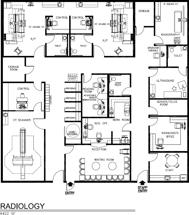 Diagnostic medicine pocket dentistry for X ray room floor plan