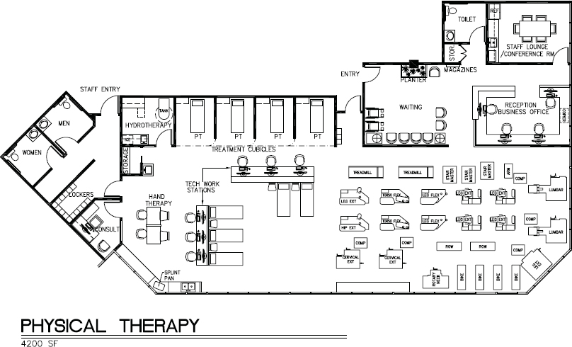 Floor Plans For Physical Therapy Clinic: Paramedical Suites