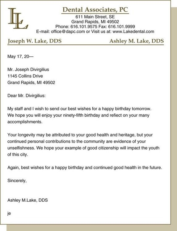 Written communications pocket dentistry figure 9 3 birthday letter to an older adult spiritdancerdesigns Image collections