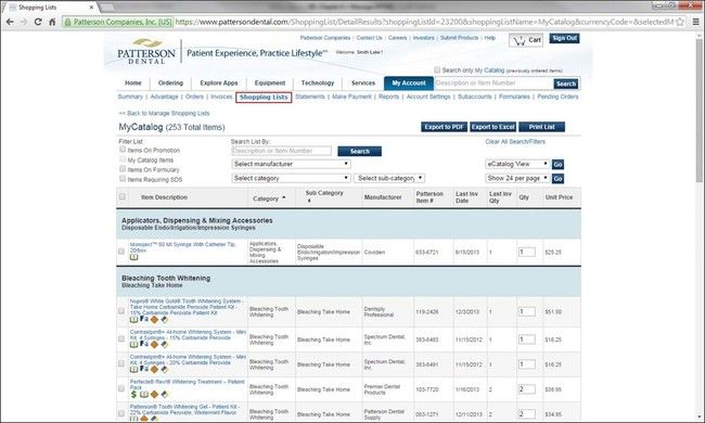Inventory Systems and Supply Ordering – Office Inventory List