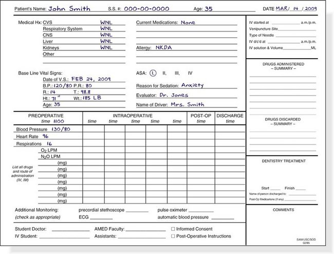 anesthesia record form template. Black Bedroom Furniture Sets. Home Design Ideas