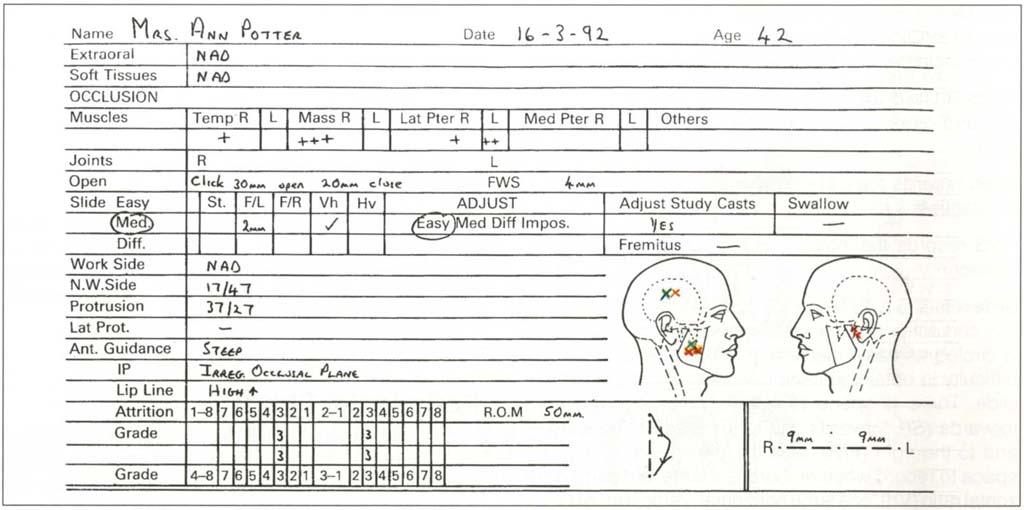 Black oral facial soft tissue exam record tint